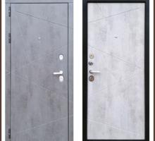 Входная дверь Лофт Серый камень / Белый камень 100 мм Россия - Двери входные в Краснодаре