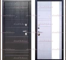 Входная дверь Эгоист Зеркало Черный дуб / Белый дуб 104 мм Россия - Двери входные в Краснодаре