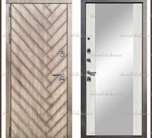 Входная дверь Канада Зеркало Дуб серый / Белый софт 100 мм Россия - Двери входные в Краснодаре