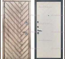 Входная дверь Канада Дуб серый / Дуб беловежский (белая) 100 мм Россия - Двери входные в Краснодаре
