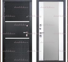 Входная дверь Оникс Зеркало Чёрный кварц / Белый матовый 106 мм Россия - Двери входные в Краснодаре