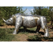 """Скульптура креативная""""носорог"""" из алюминия и латуни - Предметы интерьера в Белореченске"""