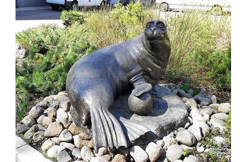 """Скульптура из металла""""Морской лев"""", фото — «Реклама Белореченска»"""