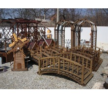 Беседки, перголы, крыльцо, мостики, вазоны деревянные - Ландшафтный дизайн в Апшеронске