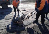 Ямочный ремонт начался на дорогах Апшеронска, фото — «Рекламы Апшеронска»
