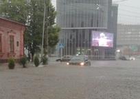 ВИДЕО: после ливня в понедельник поплыл Белореченск, фото — «Рекламы Белореченска»