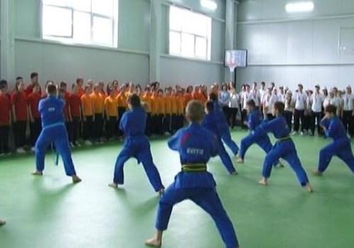 В Белореченске в школе открыли новый спортивный зал