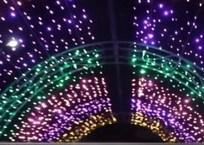 В Крымском районе появился светодиодный тоннель, фото — «Рекламы Крымска»