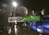 В Кропоткине столкнулись бензовоз, «Газель» и легковушка. Есть погибшие, фото — «Рекламы Кропоткина»