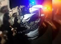 В Белореченском районе трактор раздавил иномарку. Пострадал водитель, фото — «Рекламы Белореченска»