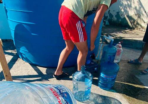 В Геленджике организовали подвоз воды в район, оставшийся без водоснабжения