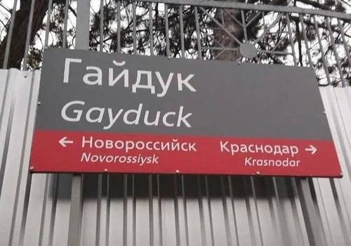 В Краснодарском крае нашли станцию с названием «Гей утка»