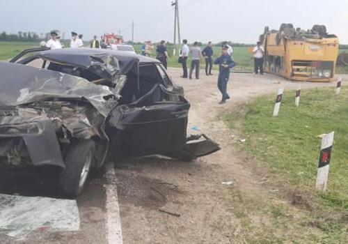 На Кубани попал в ДТП школьный автобус, есть пострадавшие, в том числе дети ФОТО