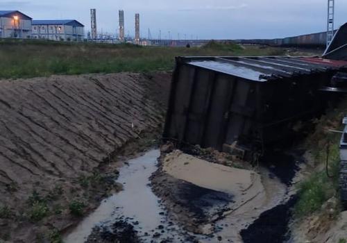 На Тамани из-за размыва путей сошли вагоны и размыло уголь ФОТО, ВИДЕО