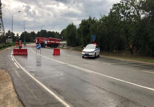 Трассу Новороссийск – Керчь закрыли из-за ливня