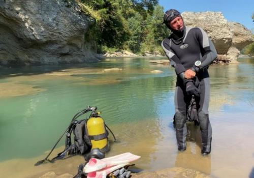 Новый рекорд погружения в горной реке установили кубанские дайверы ФОТО