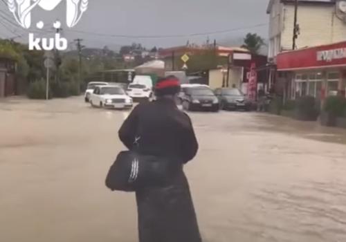 В Сочи затоплено несколько населенных пунктов ВИДЕО