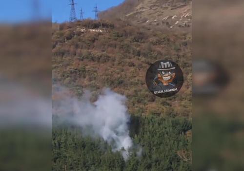 В Геленджике горит почти десять соток леса ВИДЕО
