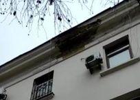 В центре Севастополя карниз многоквартирного дома обрушился на крыльцо магазина ВИДЕО, фото — «Рекламы Севастополя»