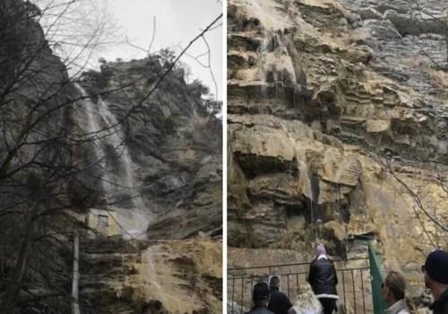 Апрель в Крыму: Дожди наполнили водопад Учан-Су ВИДЕО