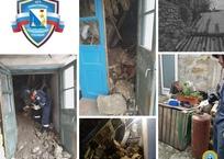 В центре Севастополя обрушилась стена жилого дома, фото — «Рекламы Севастополя»