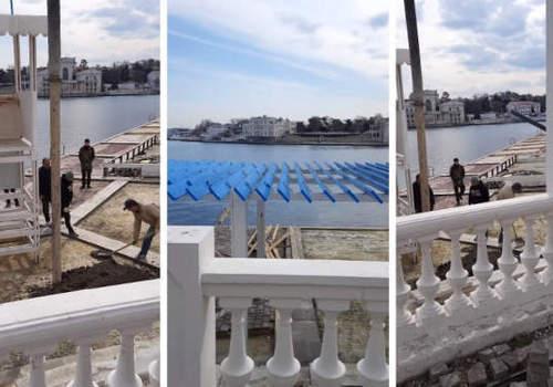 В Севастополе на пляже «Хрустальный» продолжат испытывать плитку