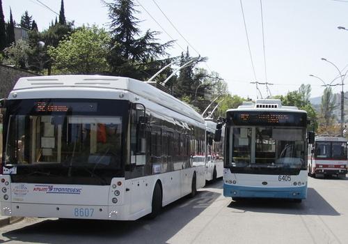 На маршруте «Симферополь – Ялта» увеличили число троллейбусов