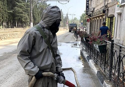 Военные начали масштабную дезинфекцию в Ялте после потопа