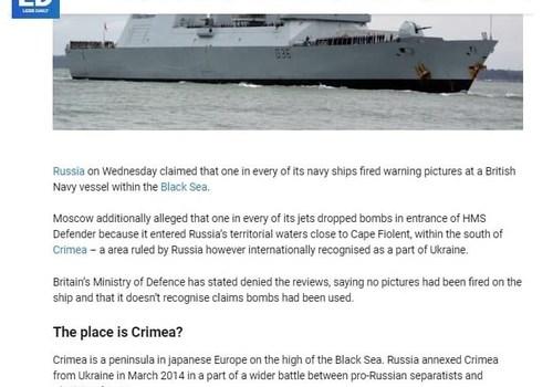 Британское информационное агентство назвало Крым полуостровом в японской Европе