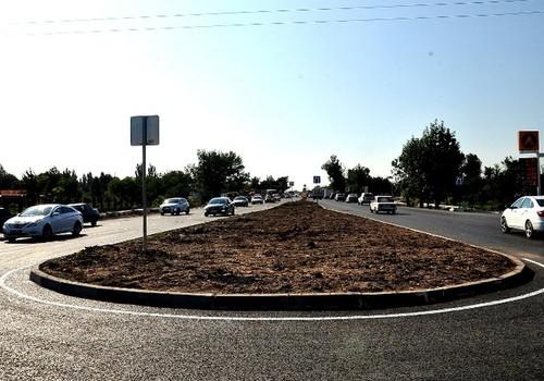 На отремонтированном участке евпаторийской трассы в Саках открыли рабочее движение ФОТО