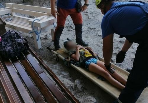 10-летний мальчик упал в обморок в Крымских горах