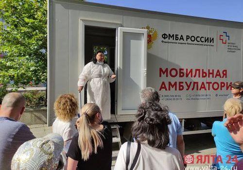 В Ялте развернуты дополнительные пункты вакцинации — в поселках, торговом центре, гостинице и других местах