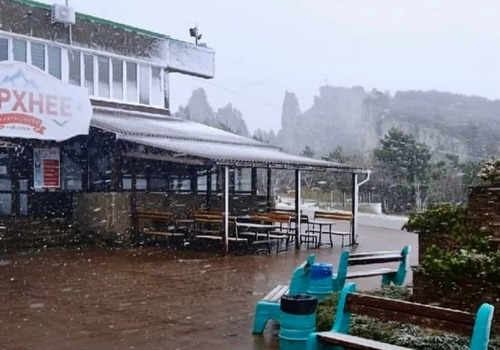 На Ай-Петри выпал первый снег ВИДЕО