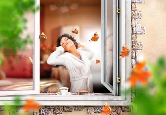 Пластиковые, алюминиевые и огнеупорные окна, двери, балконы  в Феодосии от компании «Мир окна»