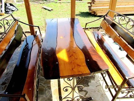 Столешницы, столы, слэбы из массива дерева в Крыму - «Винтаждерево»: высокое качество!